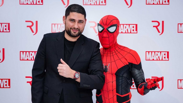 RJ and Spider-Man take over SIAR to launch Spider-Man high-end watch collection in partnership with MARVEL